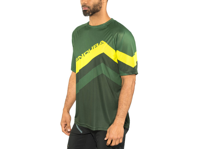 Endura SingleTrack Core Print Koszulka rowerowa Mężczyźni, forestgreen